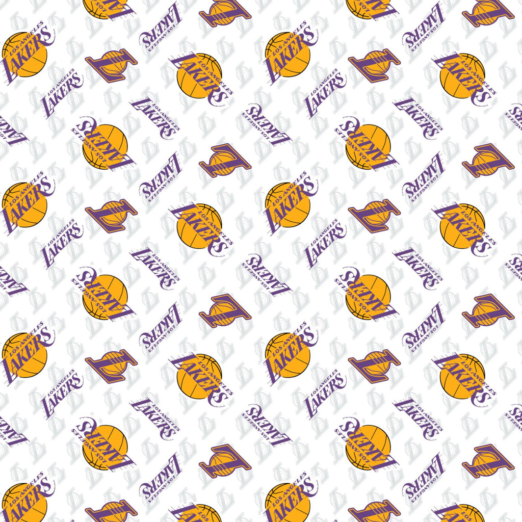 Licensed NBA Los Angeles Lakers Baskbetball Cotton Woven- Sold by the yard