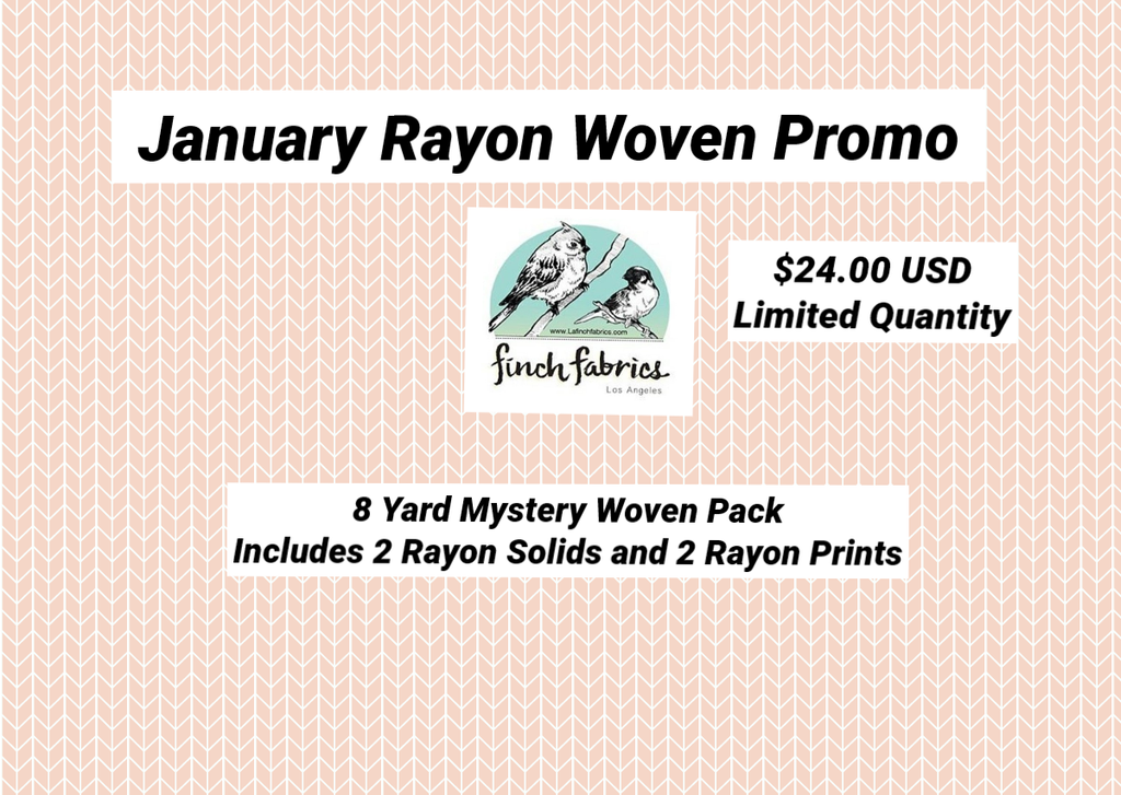 End of BOlt: 8 Yards Mystery Pack of  Rayon Wovens