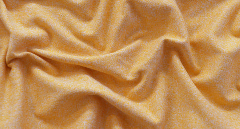 Double Brushed Melange Yellow Ivory Two Tone Jersey Knit