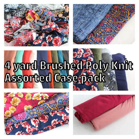 End of Bolt: 4 Yards of Double Brushed Knits