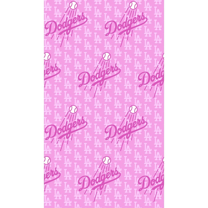Licensed MLB Pink Los Angeles Dodgers 100% Cotton Woven- Sold by the yard