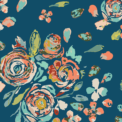 End of BOlt: 2-5/8th yards of Fleet & Flourish Swifting Floral Cotton Voile