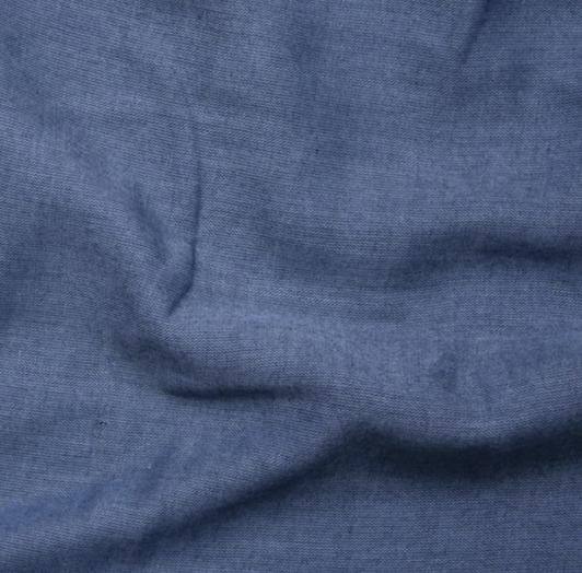 End of Bolt: 3 yards of Kaufman Double Gauze Blue Chambray Woven