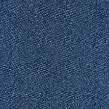 Kaufman Fashion Light Indigo Denim 100% Cotton- 8 oz By the Yard