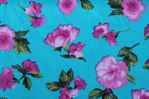 End Of Bolt: 2.5 Yards of Double Brushed Gidget Floral Knit