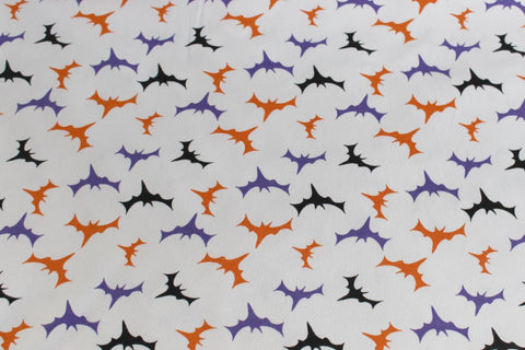 Halloween Cotton Spandex Bats in the Night Knit
