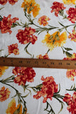 End of Bolt : 1 yard of  Double Brushed Autumn Boheme Ivory Floral Knit