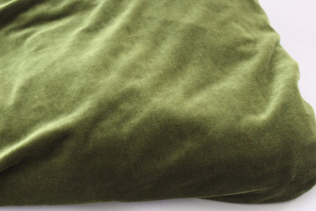 End of Bolt 3.5 yards of Medium Olive Stretch Velvet