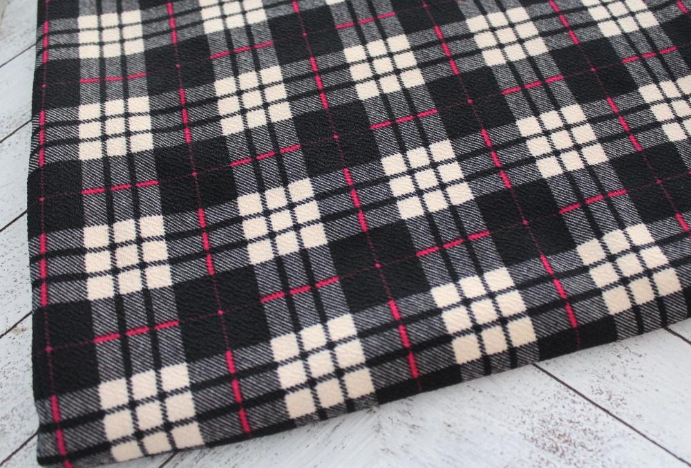 End of Bolt; 2.5 yards of Express Plaid Liverpool Knt