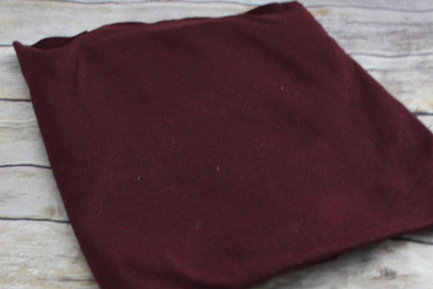 Double Brushed Two Tone Burgundy Poly Spandex Solid