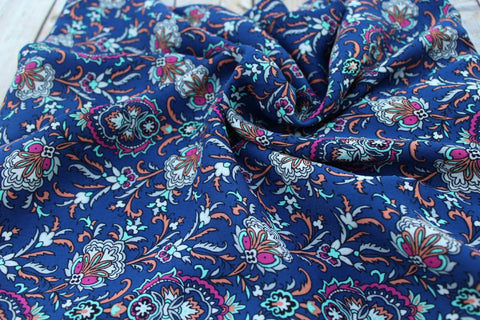End of Bolt: 3.5 yards of Paisley Boho Blousewear Woven