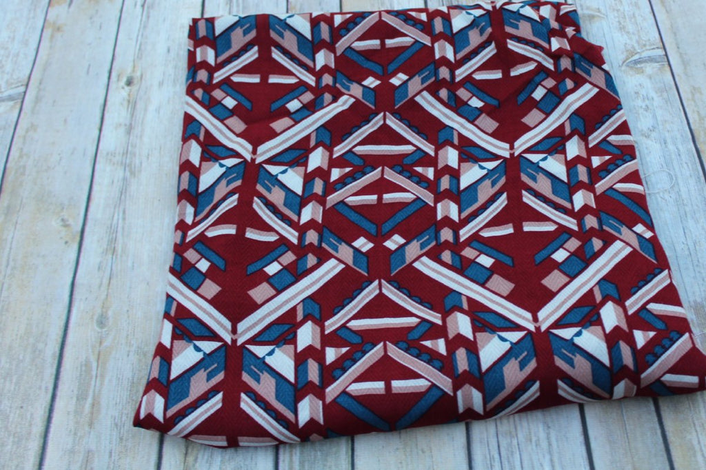 End of Bolt : 3 yards of Designer Geometric Rayon Woven