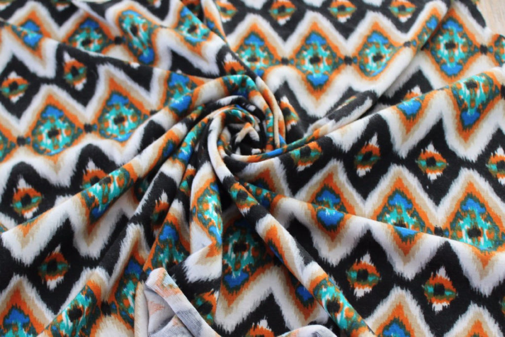 End of Bolt: 4 yards of  Abstract Geo Jersey Knit