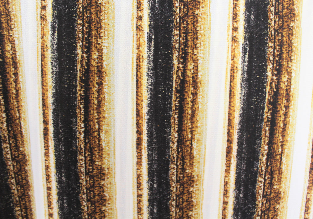 End of Bolt: 2.5 yards of Arcadia Vertical Sunset Stripe Blousewear Crepe Woven