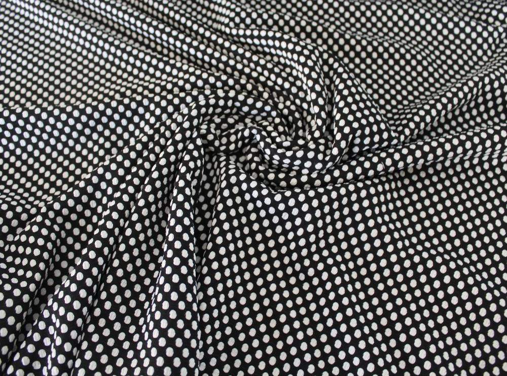 End of Bolt: 4 yards of Designer Spandex Dots Jacquard Knit
