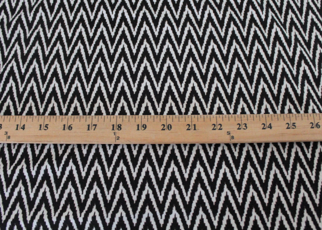 Famous Maker Zig Zag Black and White Rayon Spandex Knit