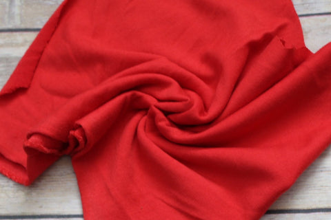 Vibrant Red Scarlet French Terry Solid