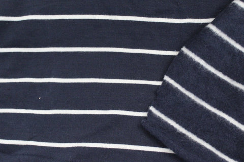 Famous Maker Small Stripe Sweatshirt Fleece
