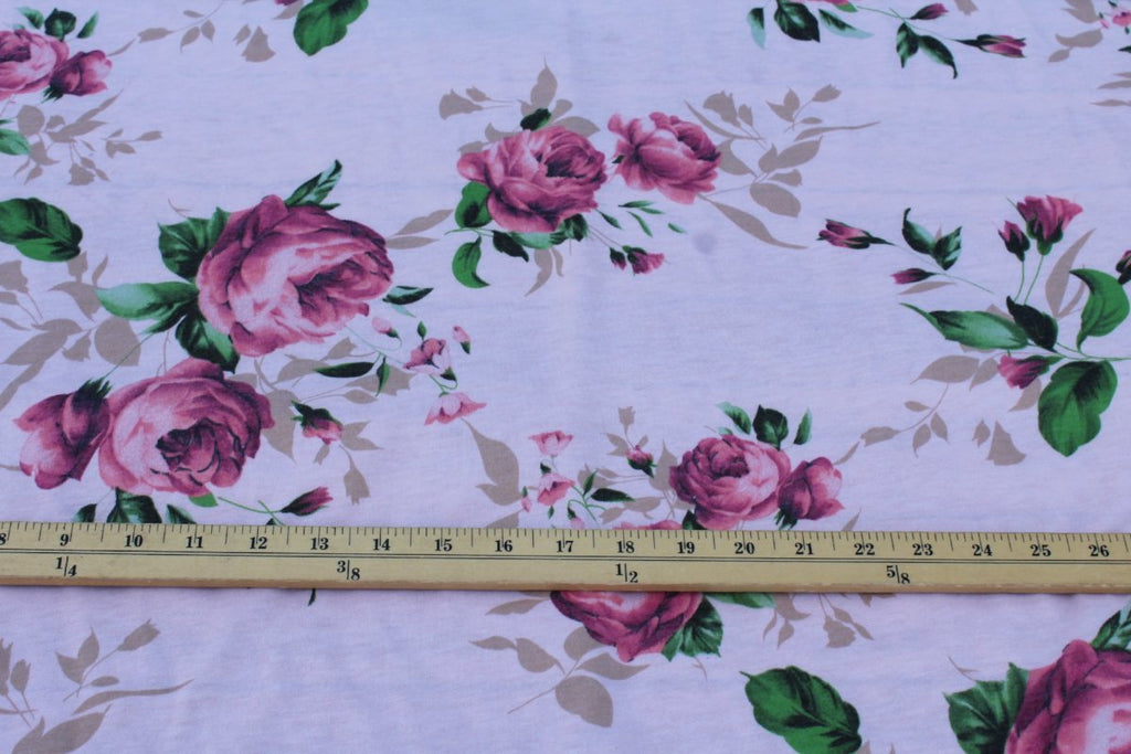 Pink Floral French Terry Knit
