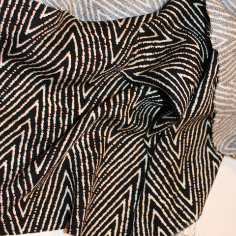 Designer Zig Zag Abstract Rayon Crepe Woven