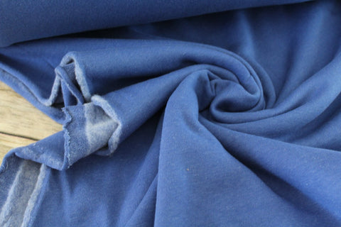 Blue Sweatshirt Fleece Solid