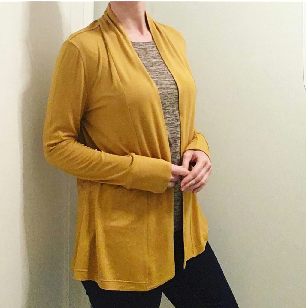 Rayon Spandex Luxe Mustard Solid. So I Sewed This.
