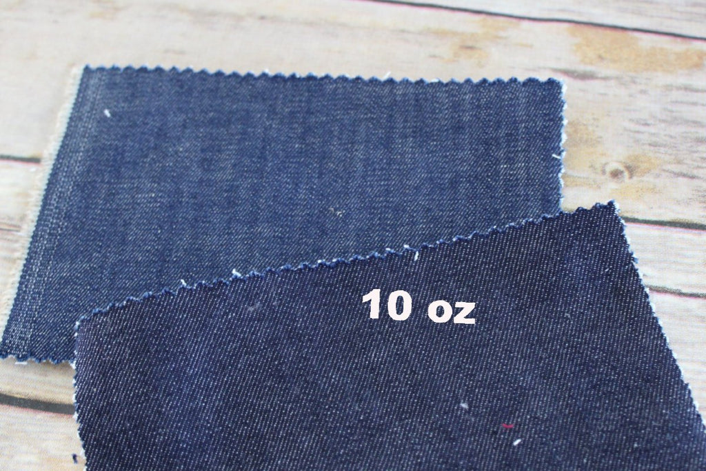 End Of BOlt: 5/8th yard of Cone Mills S-Gene USA  Indigo Stretch Denim 10 oz