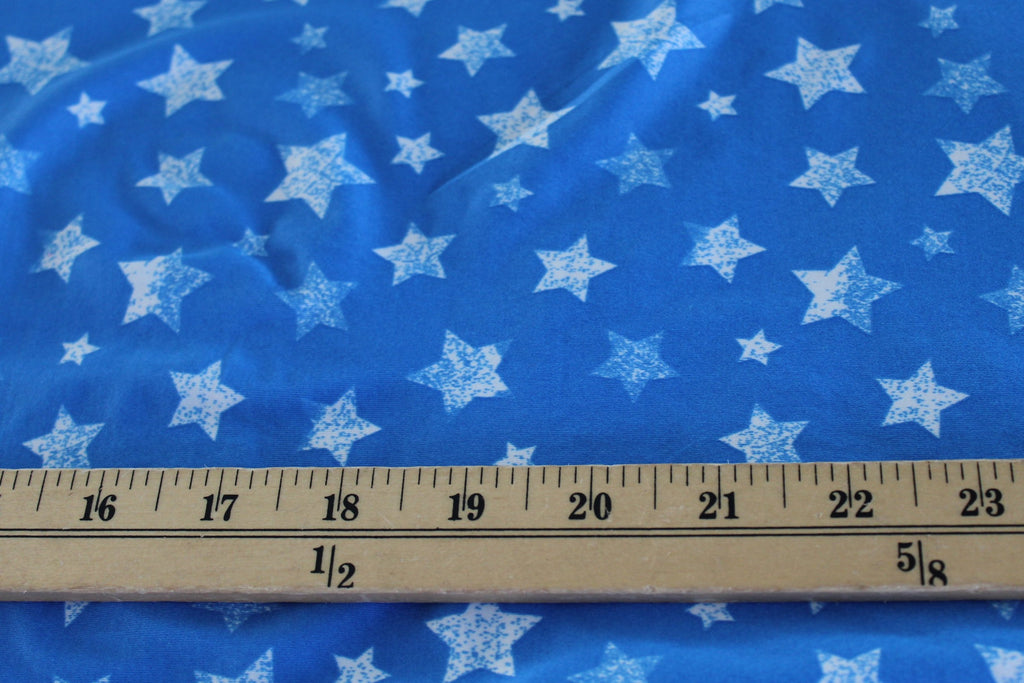End of BOlt : 3.5 yards of Patriotic Stars Swim & Performance Fabric Knit