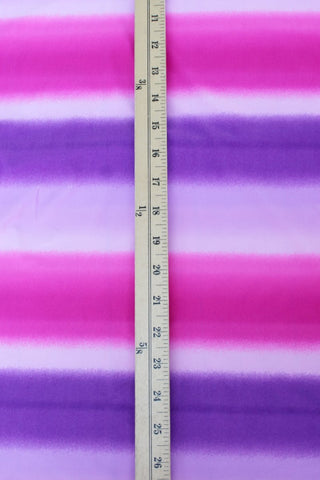 Purple & Pink Ombre Stripe Swim Knit