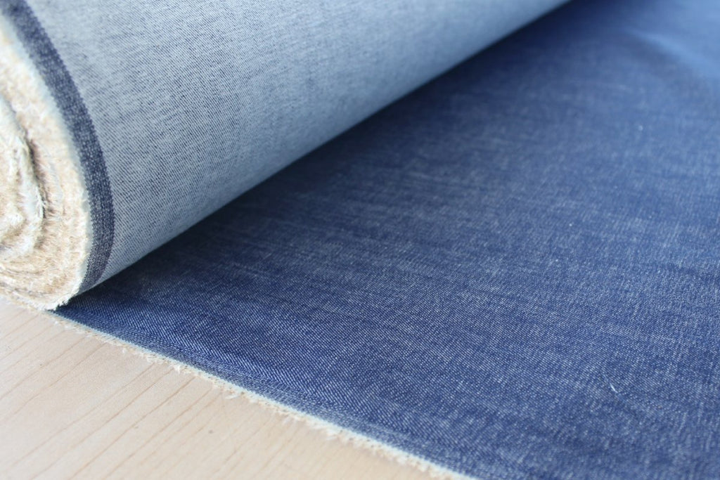 Cone Mills USA Medium Light Indigo Tencel Blend Stretch Denim 8.25 oz