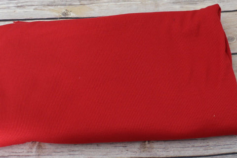 Designer Red Viscose Spandex Rib Knit