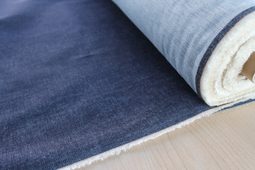 End of Bolt: 1.5 yards of Fashion Stretch Denim Cone Mills S-Gene 9.5 oz
