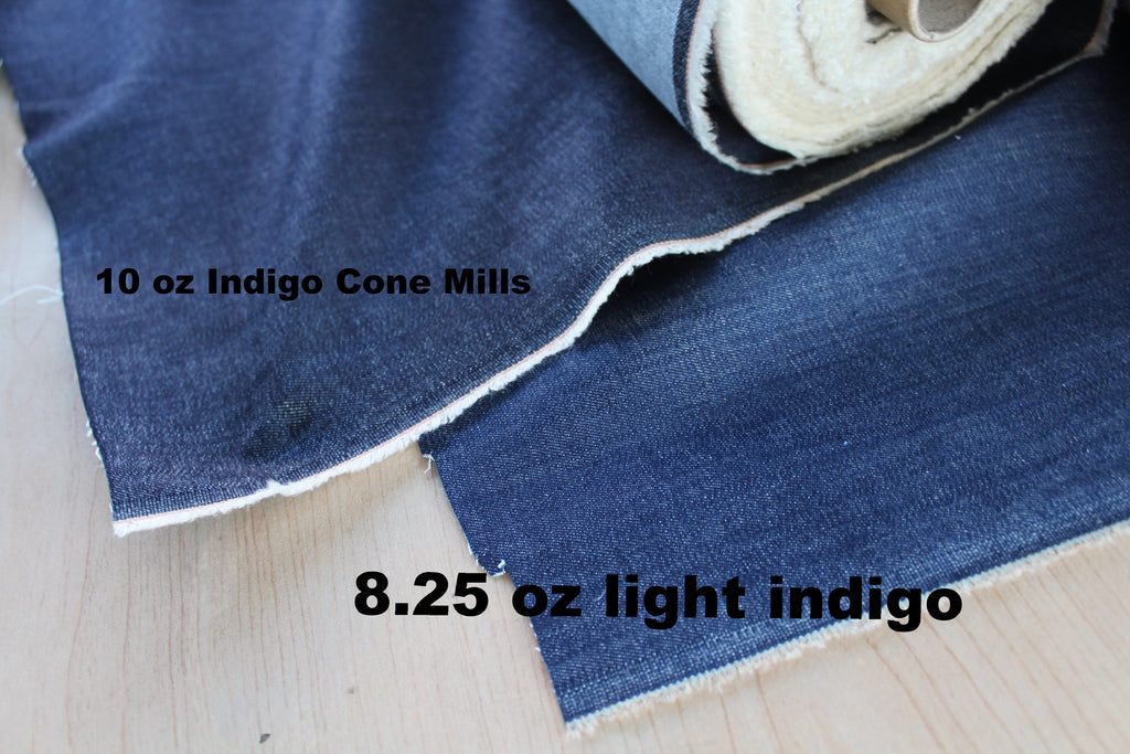 End of BOlt:  2.5 yards of Cone Mills USA Medium Light Indigo Tencel Blend Stretch Denim
