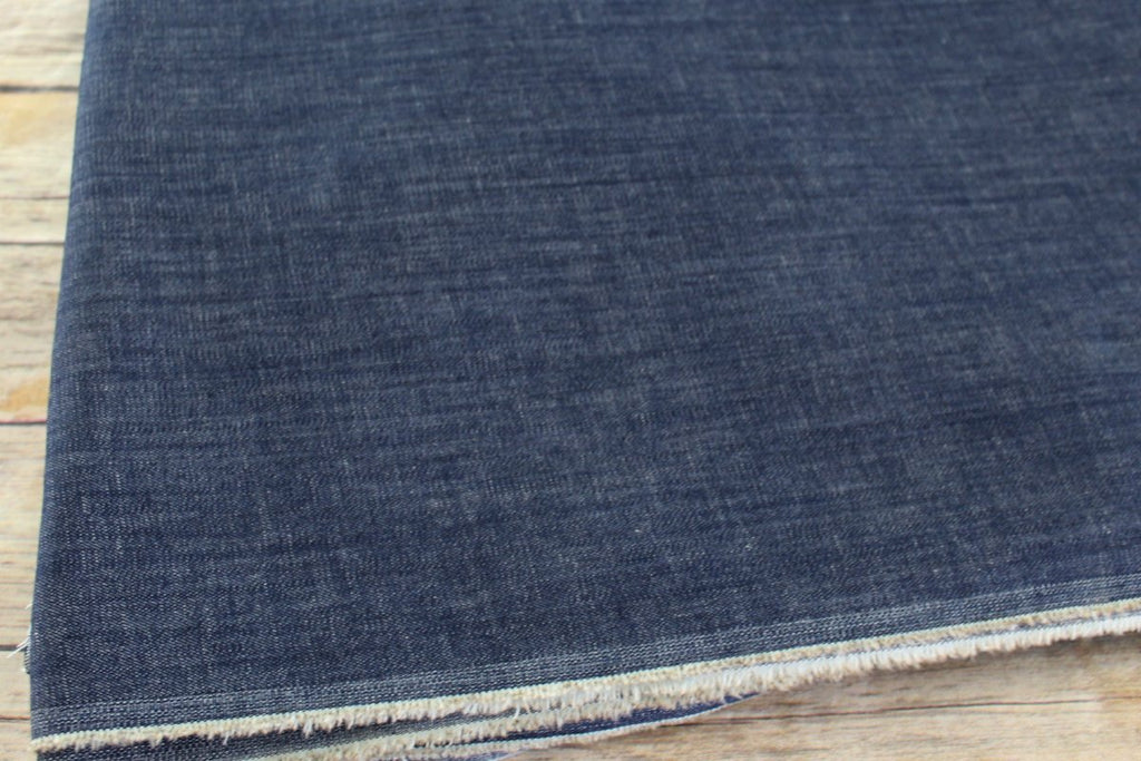 End Of BOlt: 1-3/8th yards of Cone Mills S-Gene USA  Indigo Stretch Denim 10 oz