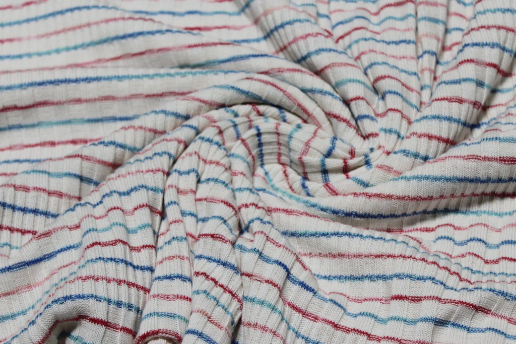 Famous Maker Stripe Wanderer Multi Rib Sweater Knit