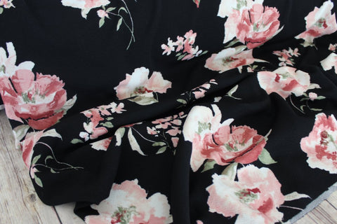 Mara Joy Black Floral Liverpool Knit