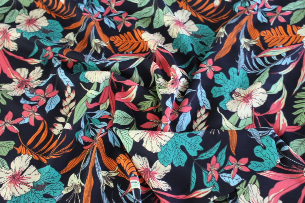 End of Bolt: 3 yards of  Premium Vana Floral Crepe Blouse Wear Woven