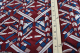 End of Bolt : 5 yards of Designer Geometric Rayon Woven