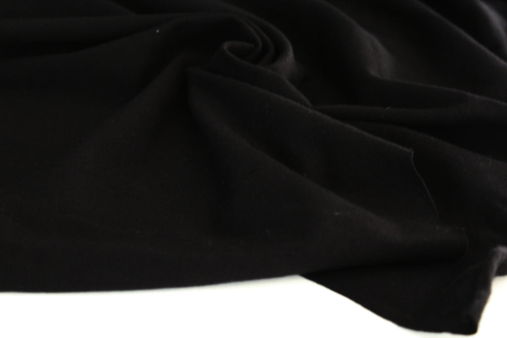 Cotton Spandex Black Jersey 14 oz Solid