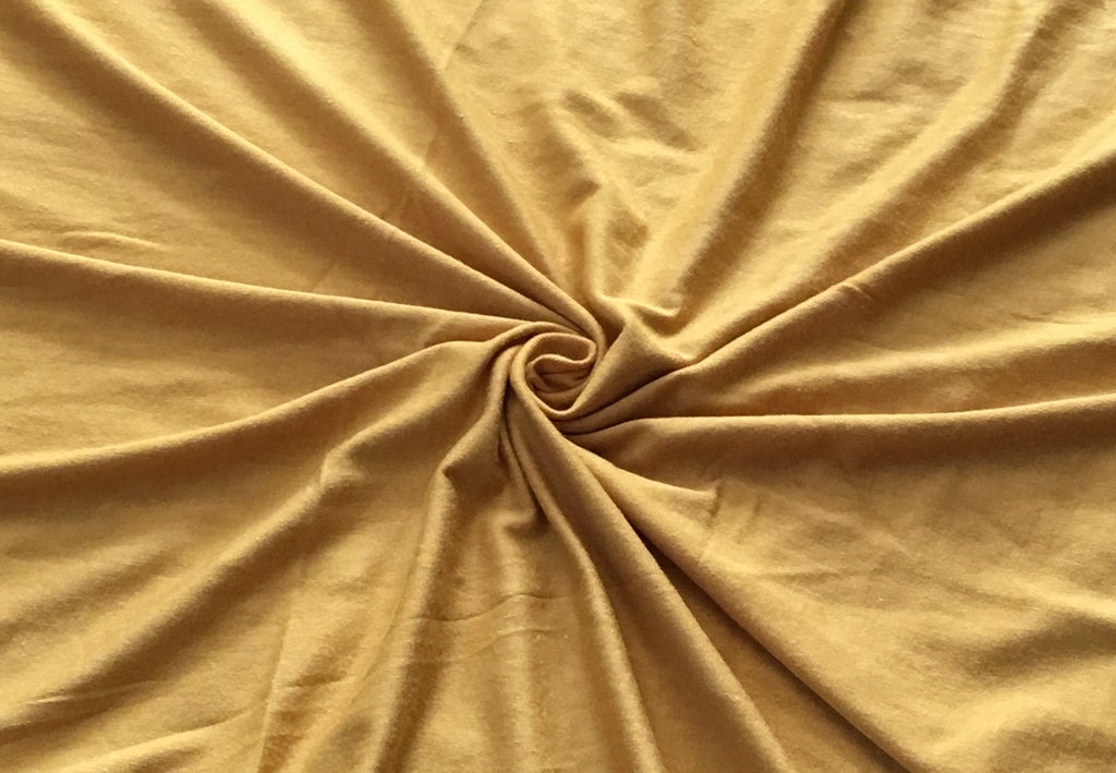 End of Bolt: 2-3/8th yards of Rayon Spandex Luxe Mustard Solid