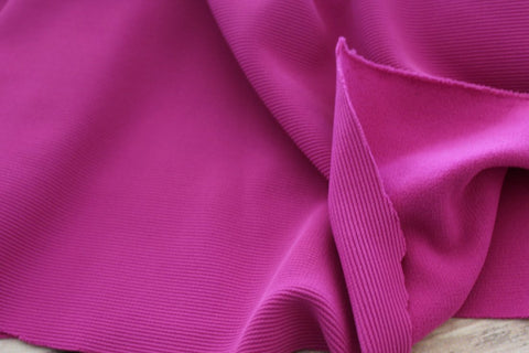Ribbed Fuchsia Swim & Performance Knit