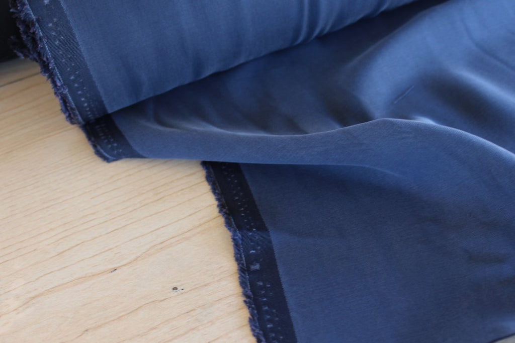 End of Bolt: 4 yards of  Premium Navy Viscose Modal 5 oz Twill Woven