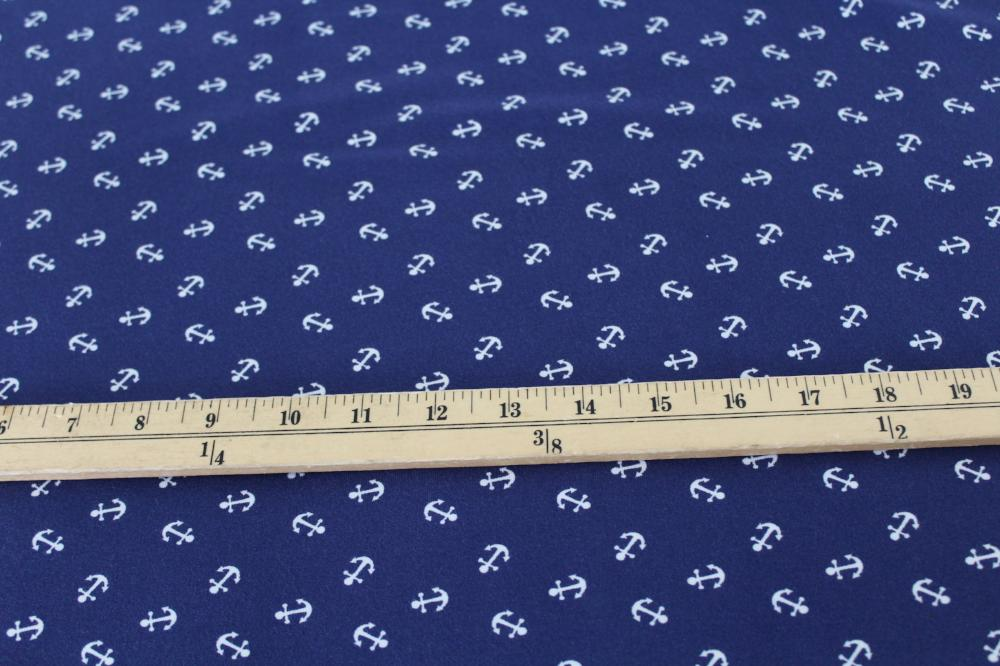 End of Bolt: 3-3/4th yards of Bamboo Spandex Anchors Blue Knit