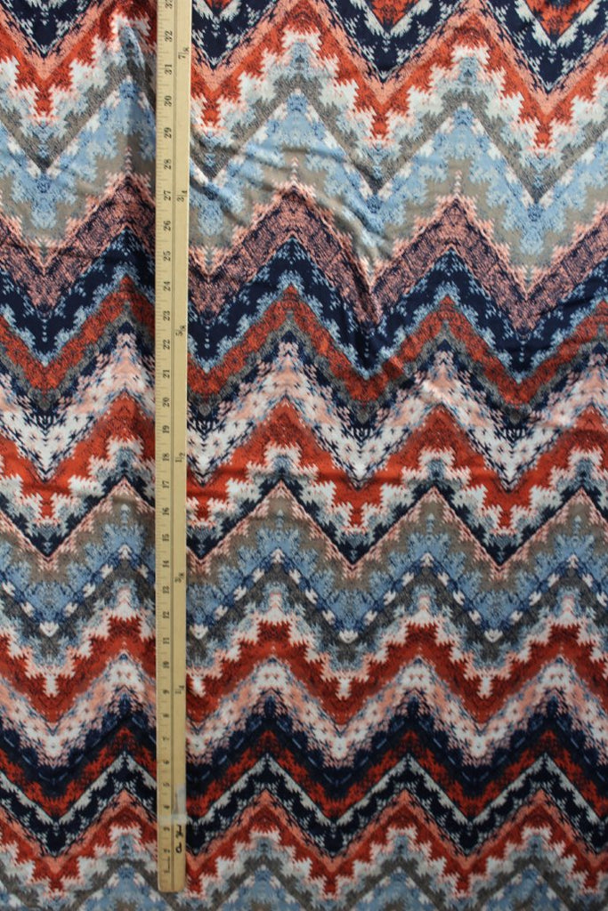 End of BOlt: 4 yards of Designer Tribal Vibes Zig Zag ITY Knit