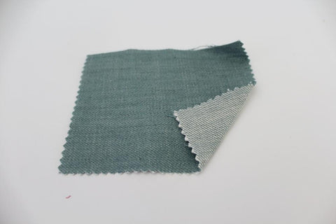 End of BOlt:1-1/4th yards of  Cone Mills  Fashion Denim Mint Green 9 oz
