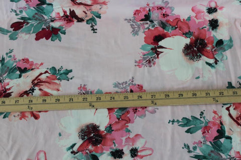 Double Brushed Love Bound Soft Pink Floral Knit