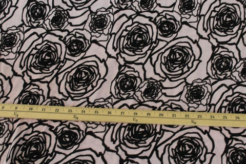 End of Bolt : 3 yards of The Rose of Versailles Rayon Spandex Jersey Knit