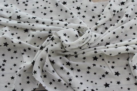 End of Bolt : 4-1/4th yards of In the Stars Blouse Wear Crepe Woven