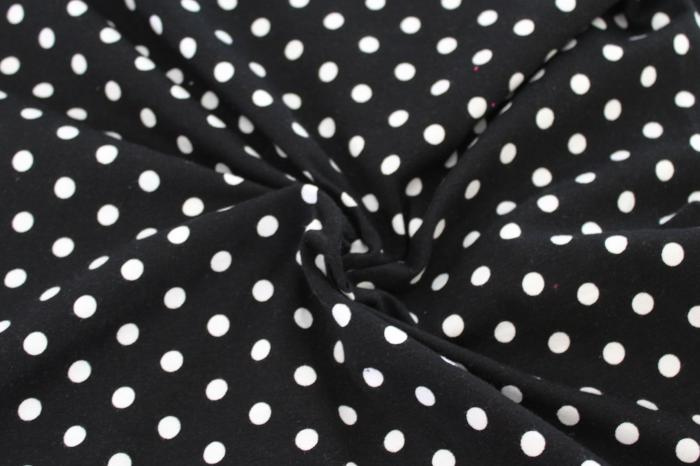 Kaufman Black Dots Cotton Spandex Laguna Jersey Knit by Ann Kelle