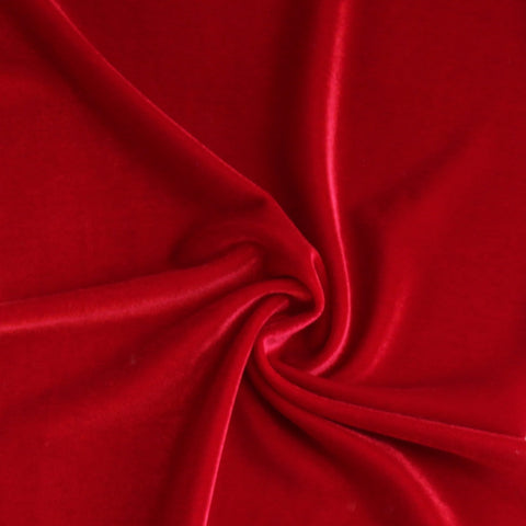 Holiday Red Fashion Stretch Velvet
